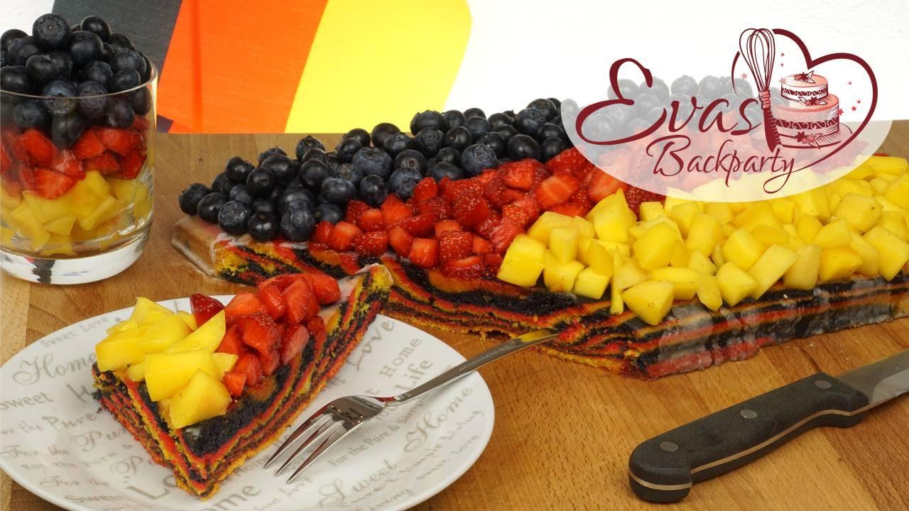 Deutschland Kuchen Fur Em Flaggen Kuchen Obst Kuchen Wm Em