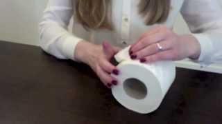 Folding a toilet paper