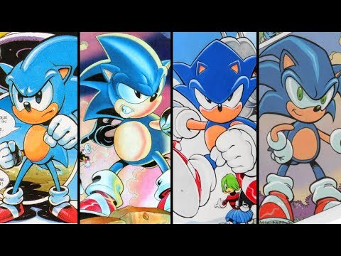 Evolution Of Sonic The Hedgehog In Sonic The Comic Youtube
