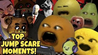 Annoying Orange Gaming - TOP JUMP SCARE MOMENTS!