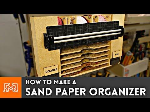 How to Make a Sandpaper Organizer