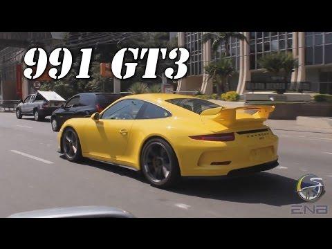 Porsche 991 GT3 Racing Yellow in São Paulo