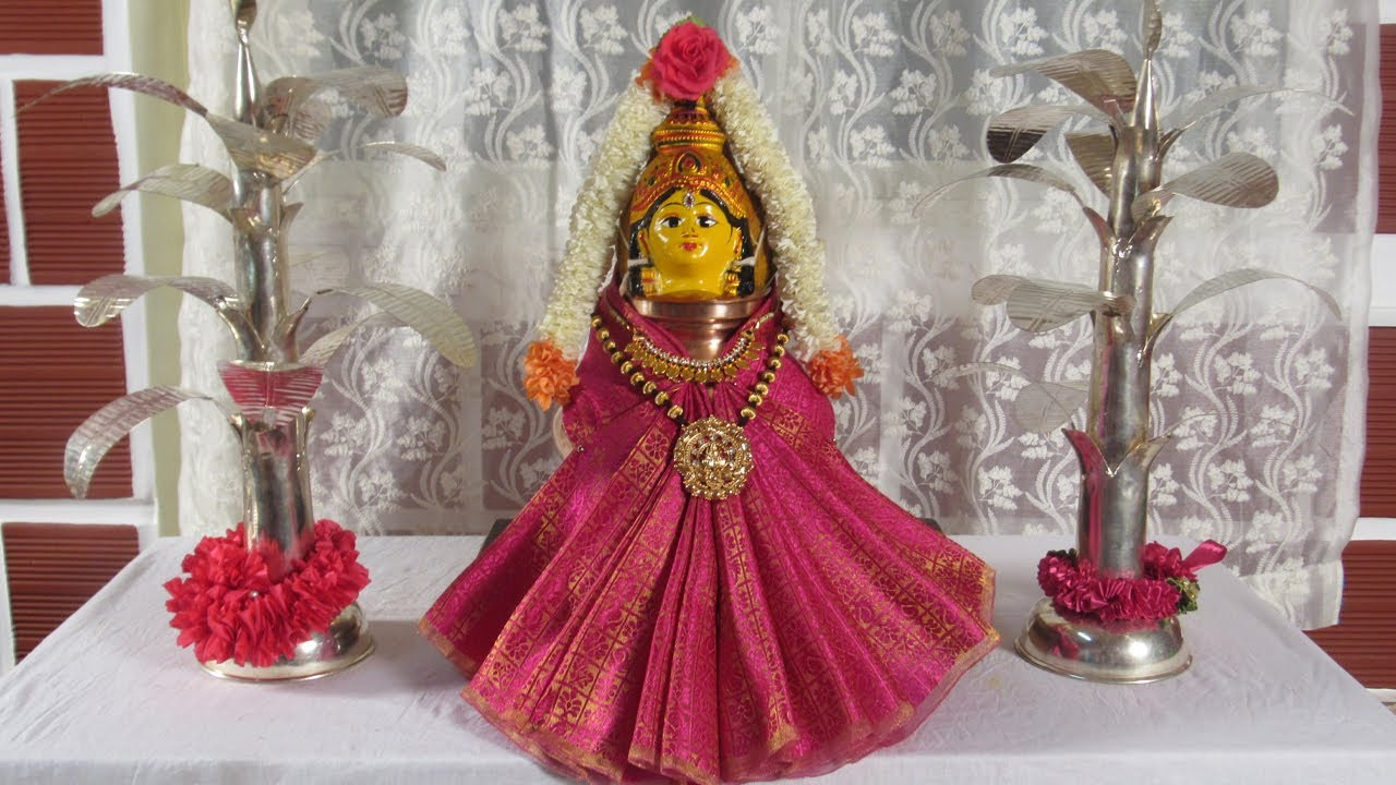 #1Varamahalakshmi Decoration Using BlousePiece ವರಮಹಾಲಕ್ಷ್ಮಿ ಕಲಶಕ್ಕೆಸುಲಭವಾಗಿ ಬ್ಲೌಸ್ ಪೀಸ್ ನಿಂದ ಅಲಂಕಾರ