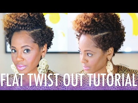 Flat Twist Out Tutorial Ft. Bee Mine Products | Natural Hair