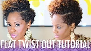 Flat Twist Out Tutorial ft. Bee Mine Products   Natural Hair