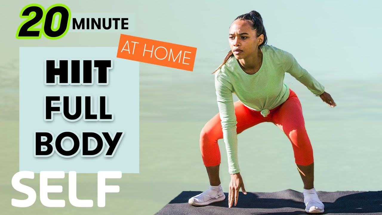 20-Minute HIIT Full-Body Workout with Cool Down - No Equipment at Home | Sweat with SELF