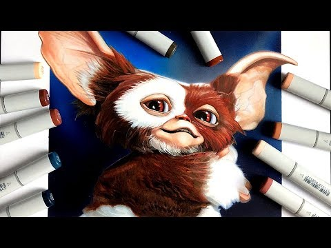 Gremlins - Gizmo Drawing