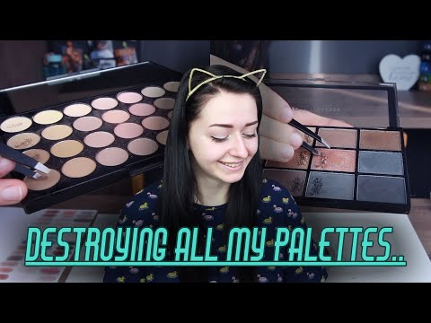 Mixing ALL Of My Eyeshadows Together! | My Own Frankenshadow