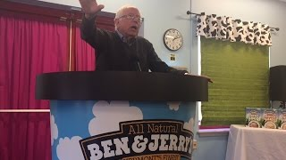Bernie Sanders Speech In Pint Of Ben And Jerrys ICE CREAM Becomes INSTANT MEME On The Internet