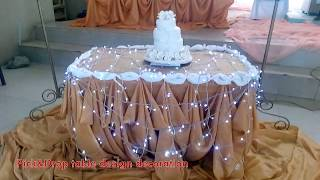 Simple Table Or Cake Table Decorations Youtube