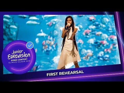 Spain 🇪🇸 - Melani Garcia - Marte - First Rehearsal - Junior Eurovision 2019