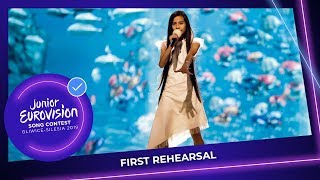 Spain 🇪🇸 - Melani Garcia - Marte - First Rehearsal - Junior Eurovision 2019