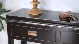 4 Living Presents The Oriental Black Lacquer Console Table