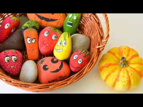 Rock painting craft, Coloring story stones for creative kids, How to paint natural rock art 48 ideas