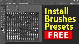 How to Download and Install Free Brushes for Photoshop cs6 in Hindi. फोटोशॉप अब हिन्दी में सीखें.