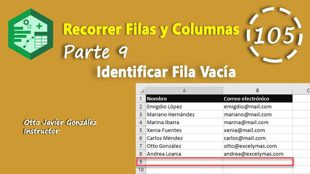Recorrer Filas Y Columnas Parte 9 Vba Excel 2016 105 Youtube