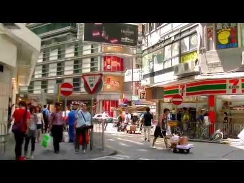 2017-香港自由行-九龍panorama隆堡國際麗景酒店步行往尖沙咀港鐵站沿途實景