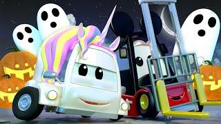 カーパトロール 🚨  ハロウィンスペシャル - 消えたかぼちゃ  - 子供向けトラックアニメ 🚨 Police car cartoon for kids