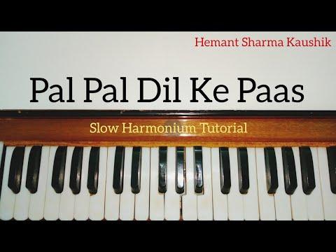 Pal Pal Dil Ke Paas Harmonium Tutorial (Notes Sargam)