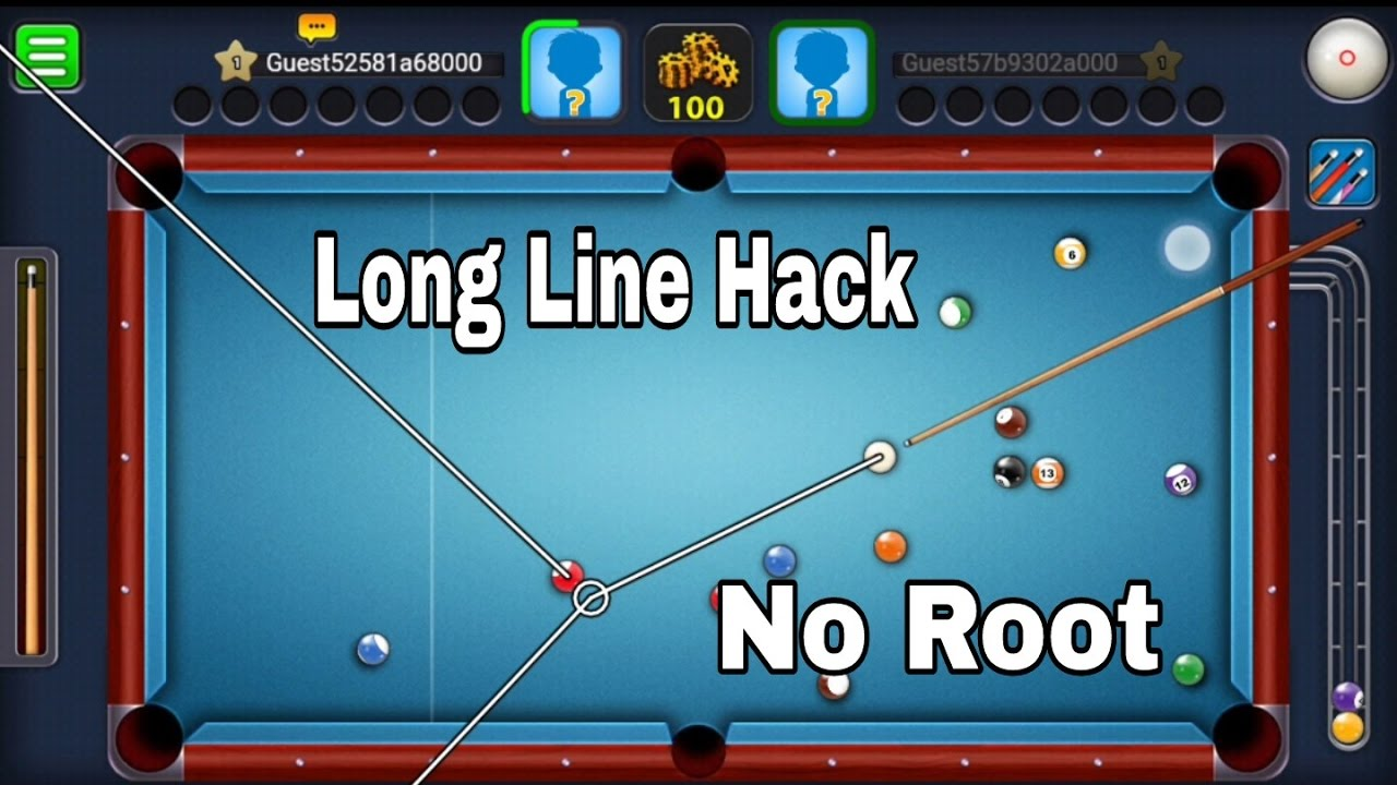 Donate to a team member share on facebook. 8 Ball Pool Long Line Hack Android No Root Youtube
