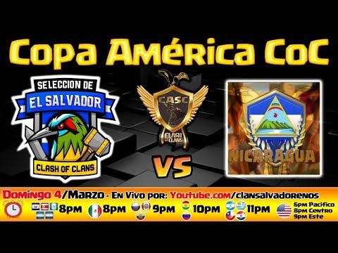 🔴 COPA AMÉRICA - EL SALVADOR vs NICARAGUA - CLASH OF CLANS