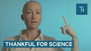Sophia The Robot Has A Thanksgiving Message