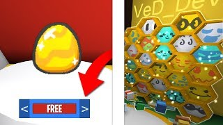 HOW TO GET FREE GOLD EGG IN BEE SWARM SIMULATOR! (Roblox)