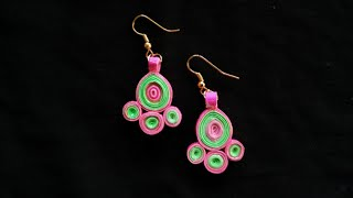 Quilling earrings tutorials#1| Basic design for beginners