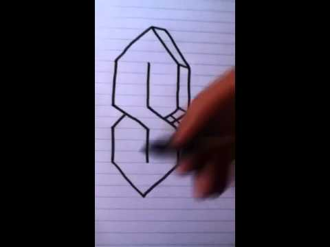 How to draw a 3D S - YouTube