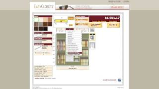 Learn the basic steps of designing a reach-in closet system using the free online design tool at http://www.EasyClosets.com. See