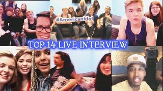 American Idol 2018 TOP 14 LIVE INTERVIEW  - IMPROMPTU SINGING & Behind the Scene April-16-2018