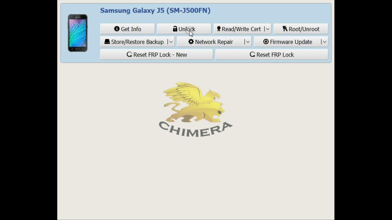 unlock phone Samsung Galaxy J5 sm-j500fn - chimeratool