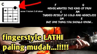 Download Tutorial fingerstyle lathi weird genius paling mudah..!!!