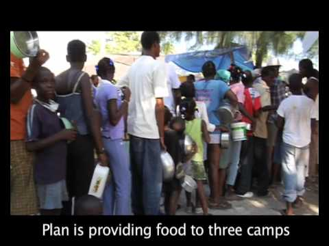 Plan's Relief Work in Haiti on YouTube