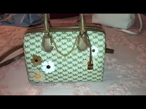 Michael kors women brand m k bag vintage women leather hand bags