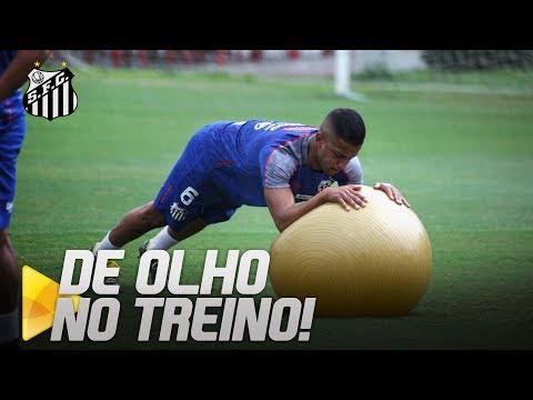 COM GRINGOS E JORGE, SANTOS TREINA PARA AS SEMI | DE OLHO NO TREINO (28/03/19)