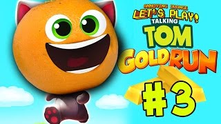 Annoying Orange Plays - Talking Tom GOLD RUN #3