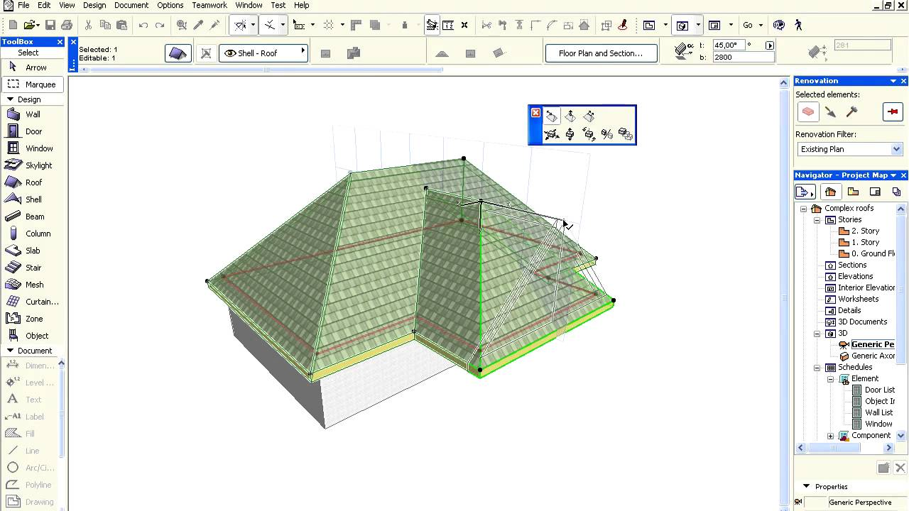 Complex Roofs In Archicad Creating A Gable Youtube