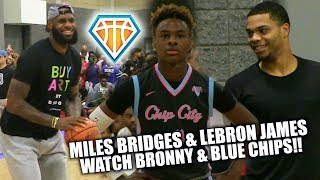 LeBron James & Miles Bridges Watch Bronny & the Blue Chips PUT IN WORK!! | USBA Nationals