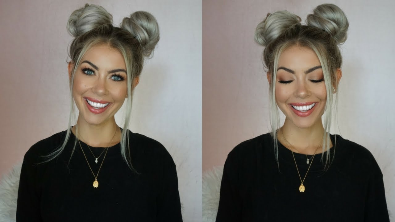 Quick Easy Space Buns Tutorial Brittanynichole Youtube