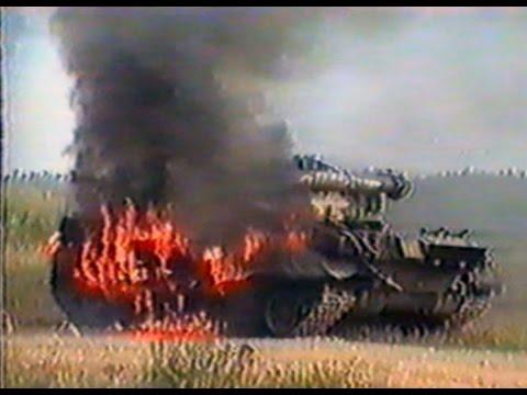 Видео с испытаниями обстрелом танка Т-80УД из танка Т-80У