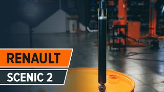 Cómo cambiar las amortiguadores traseros RENAULT SCENIC 2 Tutorial | Autodoc