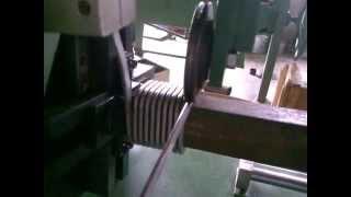 flat wire vertical coil winding machine