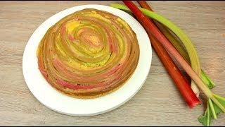 Rhabarber Kuchen dreh um WAHNSINNIG Einfach & Lecker