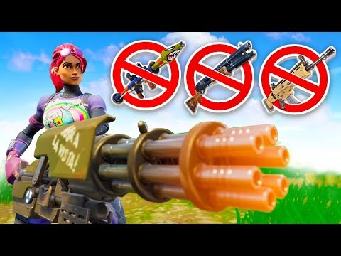 MINIGUN ONLY CHALLENGE! (Fortnite Battle Royale) - 동영상