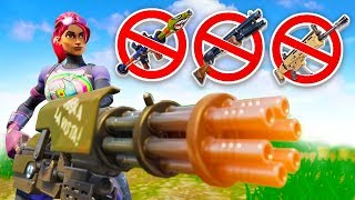 MINIGUN ONLY CHALLENGE! (Fortnite Battle Royale)