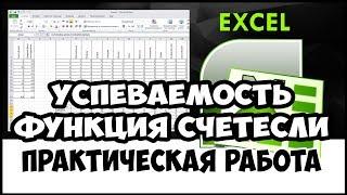 Уроки MS Excel. Функция СЧЁТЕСЛИ. Расчеты успеваемости студентов