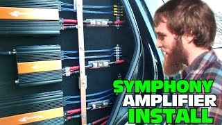 Installing Two Channel AMPS w/ Crescendo Audio Symphony Amplifiers | CLEAN & CUSTOM Amp Installation