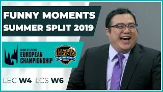 Funny Moments - LCS week 6 & LEC week 4 - Summer Split 2019