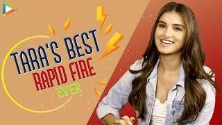 Tara Sutaria's QUIRKY Rapid Fire | I'm Big SRK Fan | Attractive Sidharth Malhotra